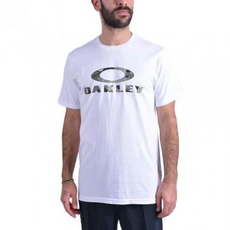 Oakley T-Shirt Logo Stealth Bianco