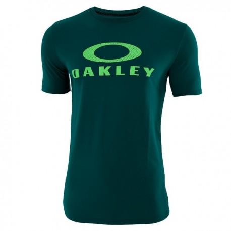 Oakley T-Shirt Traspirante  O-Mesh Bark Verde