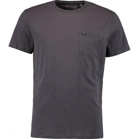 O'neill T-Shirt Basica Con Taschino Grigio
