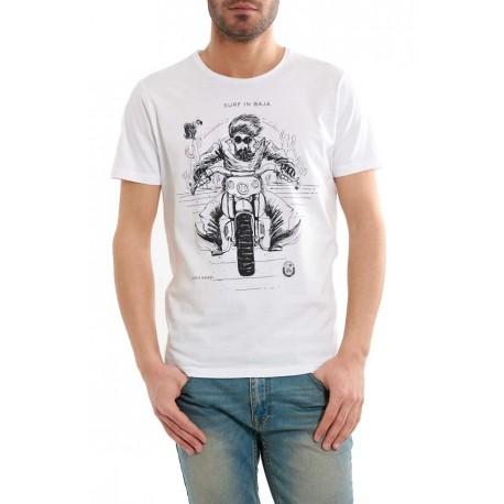 Scorpion Bay T-Shirt  Stampa Moto Bianco