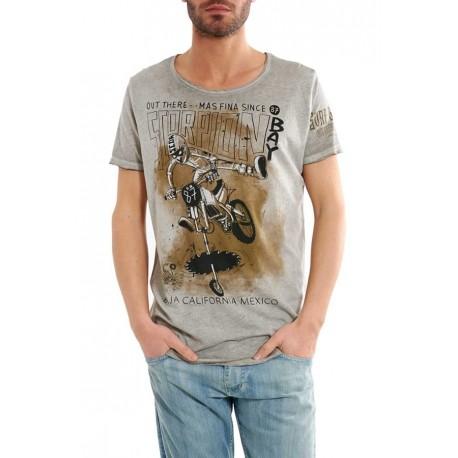 Scorpion Bay T-Shirt Delavata Grigio