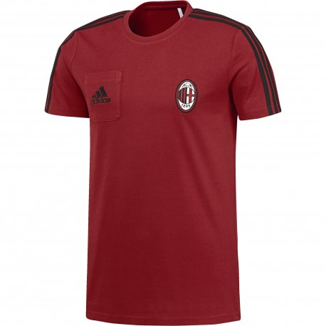 Adidas T-Shirt Mm Ac Milan  Rosso/Nero