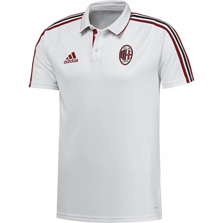 Adidas Polo Mm Ac Milan  Bianco/Rosso