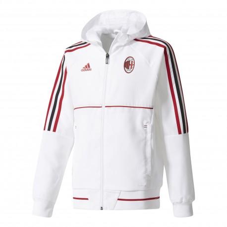 Adidas Felpa bambino C/Capp Acm Pre  Bianco/Rosso