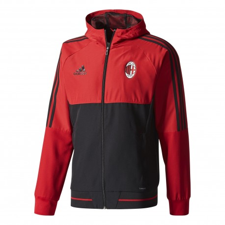 Adidas Felpa  C/Capp Acm Pre  Rosso/Nero