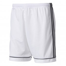 ADIDAS pantaloncini calcio squadra team bianco nero uomo