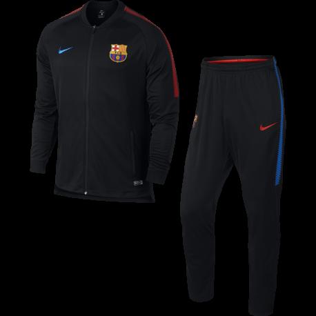 Nike Tuta Fcb Dry Sqd  Night Marron/Crimson