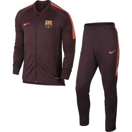 Nike Tuta bambino Fcb Dry Sqd  Night Marron/Crimson
