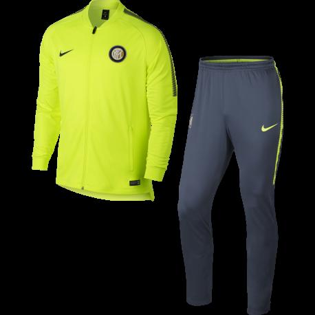 Nike Tuta Inter Dry Sqd  Volt/Blue