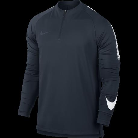 Nike T-Shirt Ml Dry Sqd Dril  Grigio/Bianco