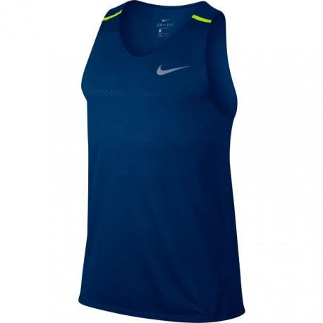 Nike Canotta Mm Rn Brthe Talwind Cool    Blue Jay/Htr