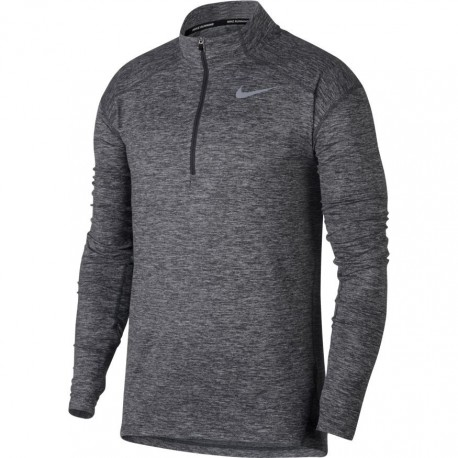 Nike T-Shirt Ml Run Dry Elmnt Hz    Daek Grey