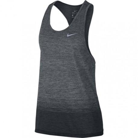 Nike Canotta Donna  Run Df Knit Nv    Anthracite/Wolf Grey