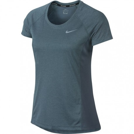 Nike T-Shirt Donna  Mm Run Dry Miler    Armory Blue/Htr