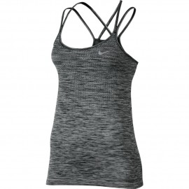 Nike Tank Donna  Run Knit    Black/Htr