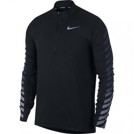Nike T-Shirt Ml Run Flsh Elmnt Hz Gx    Black
