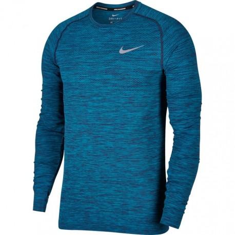 Nike T-Shirt Ml Run Df Knit    Binary Blue