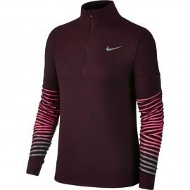 Nike T-Shirt Donna  Ml Run Flsh Elmnt Hz    Port Wine
