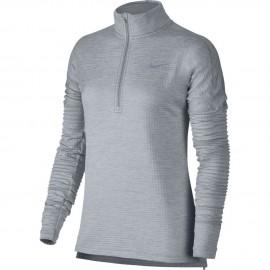 Nike T-Shirt Donna  Ml Run Therma Sphere Element Hz Wolf Grey