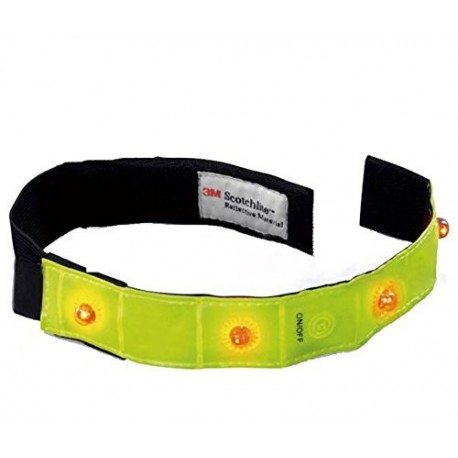 Salzmann Reflective Run Band  Giallo/Nero