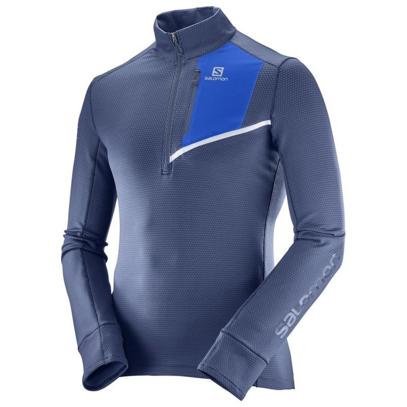 Salomon Maglia Fast Wing Mid Dress Blue