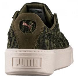 Puma Scarpa Donna Platform Velvet Olive/Gold