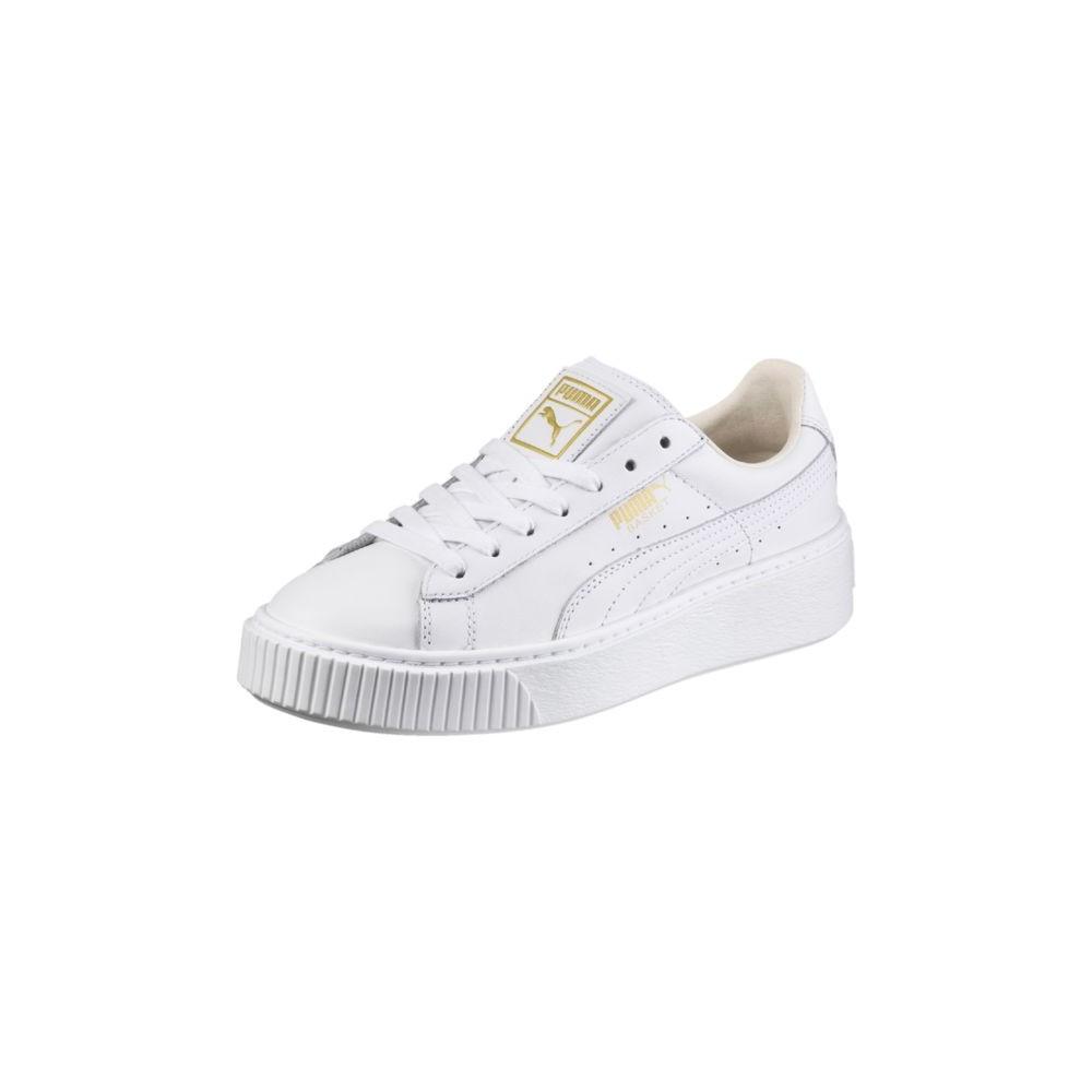 PUMA Basket CORE platform in vera pelle Sneaker Donna Scarpe Classic 364040 04