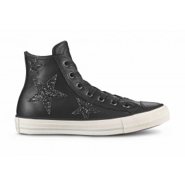 Converse Scarpa Donna Hi Glitters Stars Lea Black/Black