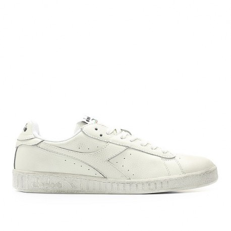 Diadora Scarpa Game Lea Low Waxed Bianco/Bianco