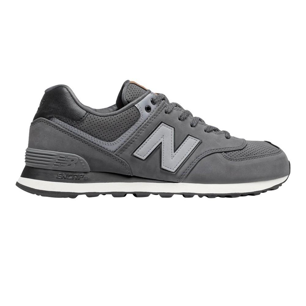 Da Uomo New Balance 574 Navy Suede Classic Sports Palestra Scarpe Da Ginnastica Sneaker UK 11