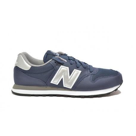 New Balance Scarpa 500 Suede Mesh Blu Silver ... d20bec1863e
