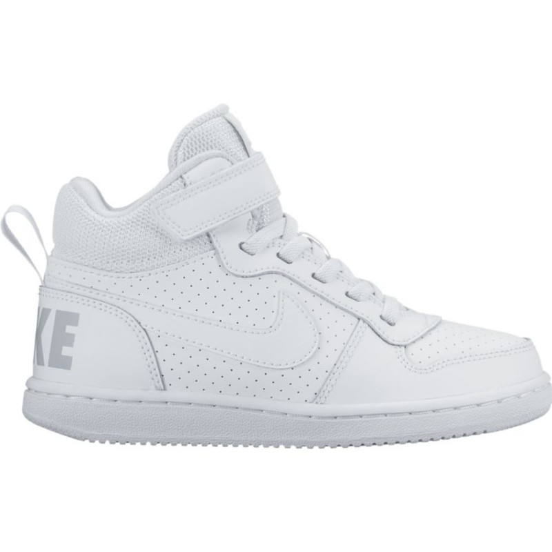 Scarpa 870026 Nike Ps Mid Borough Bambino Court 100 Biancobianco 7qSd0q