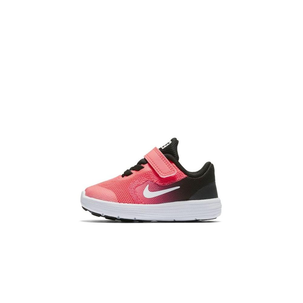 Nike Scarpa Bambino Revolution 3 Td Nero/Rosa 1M7Zb2