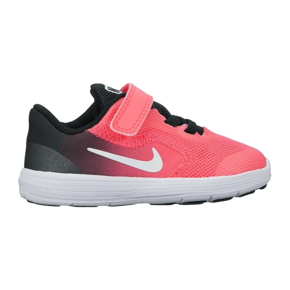 Nike Scarpa Bambino Revolution 3 Td Nero/Rosa 72O97FY