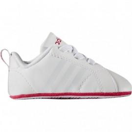 ADIDAS scarpa bambino advantage crib bianco/rosa