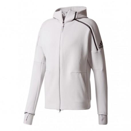 Adidas Felpa Zne Hood2 Unisex Grigio