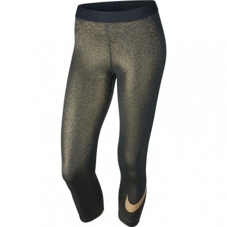 Nike Capri Swoosh Gold Donna Nero