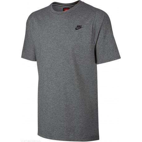 Nike T-Shirt Girocollo Tch Flc Unisex Grigio