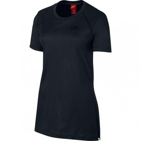 Nike T-Shirt Tch Flc Donna Nero