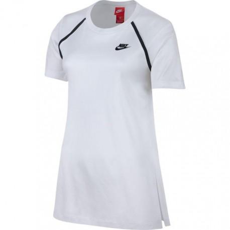 Nike T-Shirt Tch Flc Donna Bianco
