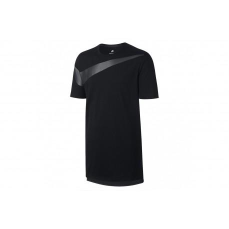 Nike T-Shirt Swoosh Grande Nero