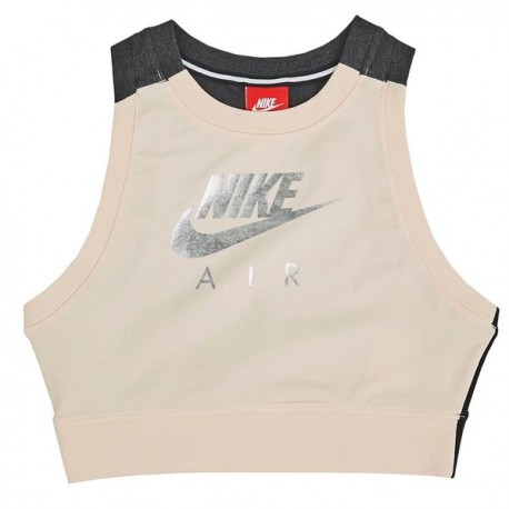 Nike Top Donna Logo Crom Rosa