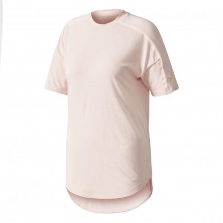 Adidas T-Shirt Zne 2 Wool Donna Rosa