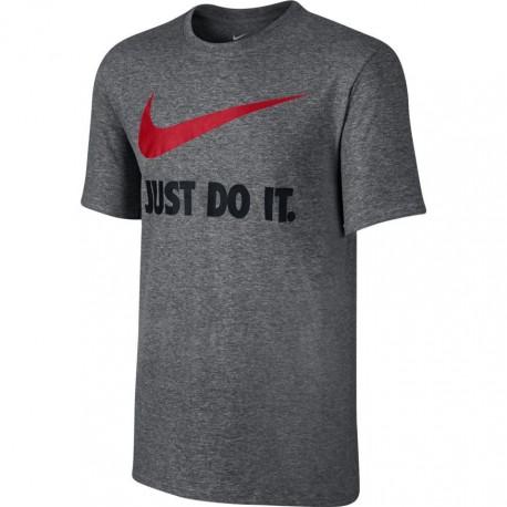 Nike T-Shirt Swoosh C Scritta Unisex Grigio