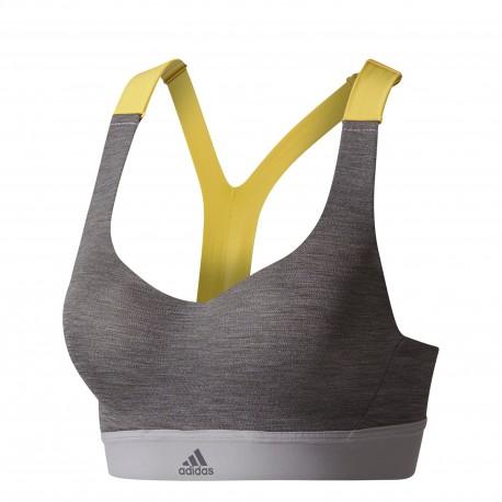 Adidas Bra Bicolor Train Donna Grigio