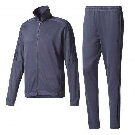 Adidas Tuta Tri Bend Full Zip Senza Cappuccio Blu