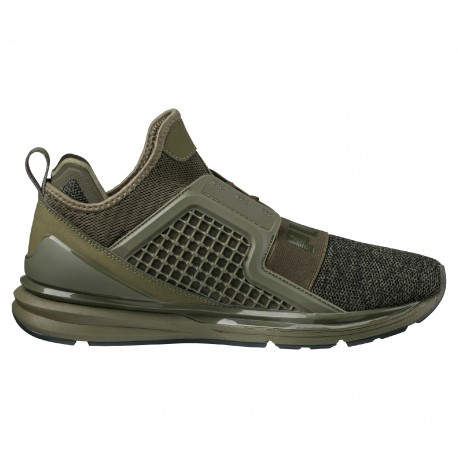 Puma  Ignite Limitless Knit Olive/Black