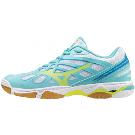 Mizuno  Donna Wave Hurricane 3 Blue/Yellow
