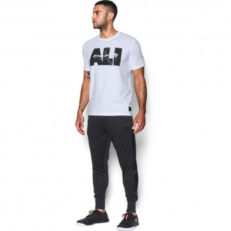 Under Armour T-Shirt Unisex Scritta Ali Bianco