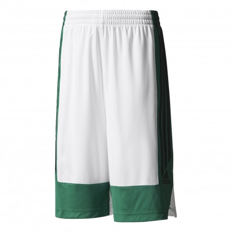 Adidas Short Bambino  Poly Commander Bianco/Verde